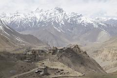 Gompa or Monastry in Jharkot, Mustang district, Nepal - stock photo