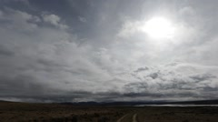 Timelapse of storm clouds forming over the Wyoming prairie Stock Footage