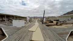 Lake Mead Drought Stricken Marina Stock Footage