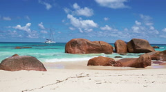 Stock Video Footage of seychelles beaches