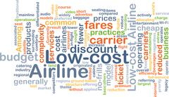 Low-cost airline background concept - stock illustration