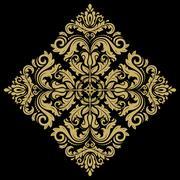 Orient Abstract Vector Pattern - stock illustration