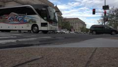 Washington DC US Archive Building road level intersection 4K Stock Footage