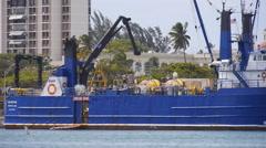 BLUEFIN ship Tsunami bouy tender 2 Stock Footage