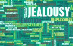 Stock Illustration of Jealousy