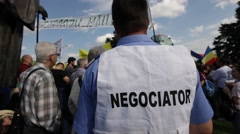 Mass Logging Rally Bucharest Protest Forest Romania Stock Footage