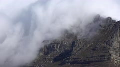 Clouds above the Table Mountain (Cape Town) Stock Footage