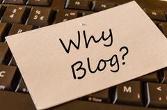 Why blog Concept on Keyboard Stock Photos