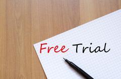 Free Trial Concept Stock Photos