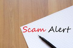 Scam Alert Concept Stock Photos