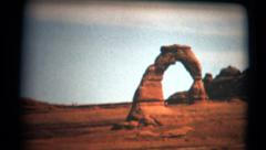 (Super 8 Film) Utah Delicate Arch Monument 1966 Stock Footage