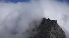 Cloudy Table Mountain (Cape Town, timelapse footage) Stock Footage