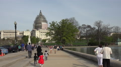 Washington DC Capital Building multi cultural tourism 4K 059 Stock Footage
