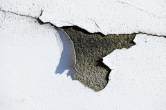 Grunge white peeling paint background texture - stock photo