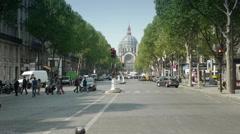 PARIS, FRANCE-APRIL 24, 2015: general street view in Paris Stock Footage