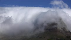 Table Mountain (Cape Town) Timelapse footage Stock Footage