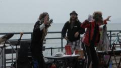 EDITORIAL - Performers on Santa Monica pier performing Michael Jackson Arkistovideo