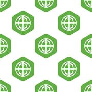 Globe pattern Stock Illustration
