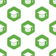 Square academic hat pattern - stock illustration