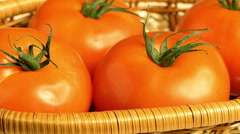 Tomatoes on branch Stock Footage