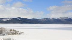 Panorama Lake Shchuchye at the Borovoye resort Stock Footage