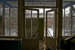 Inside the Abandoned Soviet canteen Stock Photos