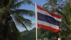 Flag of Thailand blowing in the wind - 4k Stock Footage