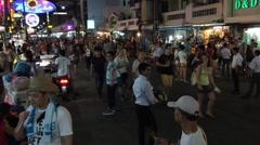 crazy night life in BKK - stock footage