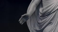 Jesus Christ Christus statue LDS Mormon Temple 4K 004 Stock Footage