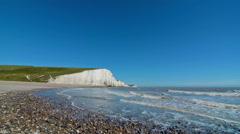 Seven Sister chalk cliffs, Brighton, London. United Kingdom Stock Footage