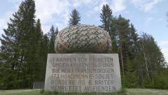 WW2 monument at Trandum Norway Stock Footage