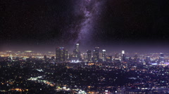 Meet The Milky Way In L.A. Stock Footage