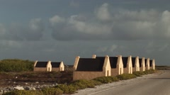 Slavehuts in Bonaire Stock Footage