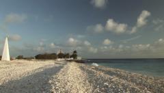 Bonaire stone obelisk - stock footage