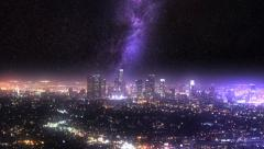 Meet The Milky Way In L.A. Glowing Stock Footage