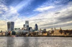Stock Photo of London, England Downtown City Scape