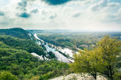scenery Svyatogorsk monastery - stock photo