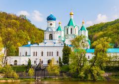 landscape Orthodox church - stock photo