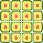 seamless avocado pattern - stock illustration