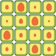 Seamless avocado pattern Stock Illustration