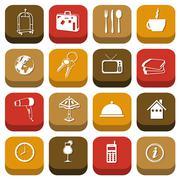 Hotel icons Stock Illustration