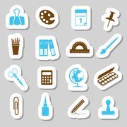 Stationery stickers Stock Illustration