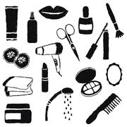 Stock Illustration of doodle cosmetics images
