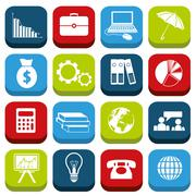 economy icons - stock illustration