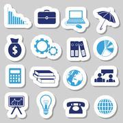 economy stickers - stock illustration