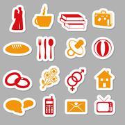 Family stickers Stock Illustration