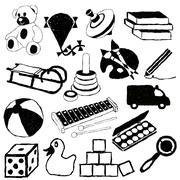 doodle toys - stock illustration