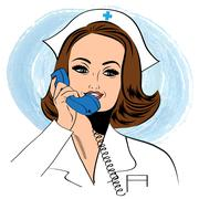 Stock Illustration of Beautiful friendly and confident nurse