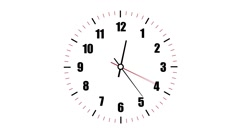 Clock counting down 12 hours over 30 seconds. Time lapse. Stock Footage