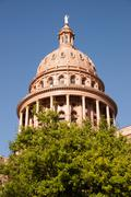 Capital Building Austin Texas Government Building Blue Skies - stock photo
